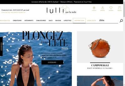 Site internet de Lulli sur la Toile