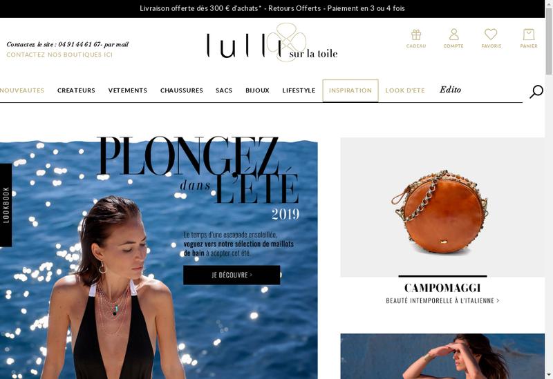 Capture d'écran du site de Lulli sur la Toile