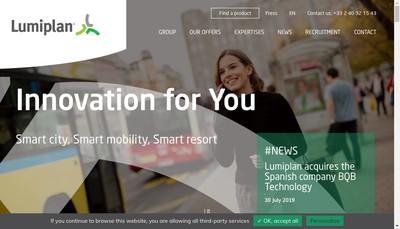 Site internet de Lumiplan Transport