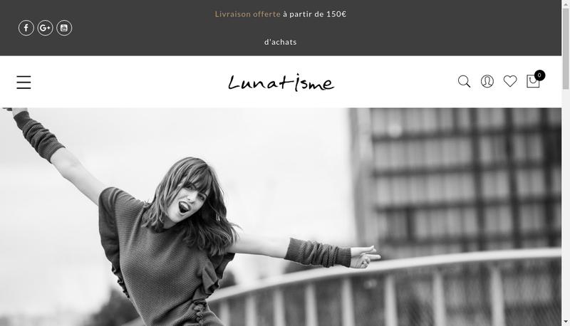Capture d'écran du site de Lunatisme SARL