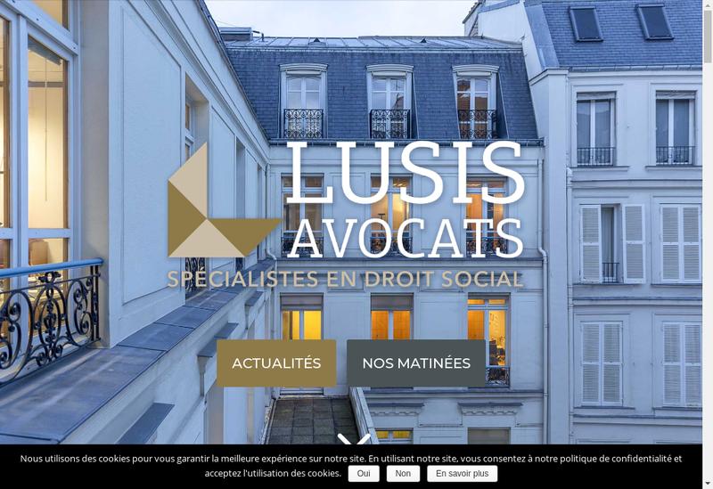 Capture d'écran du site de Lusis Avocats