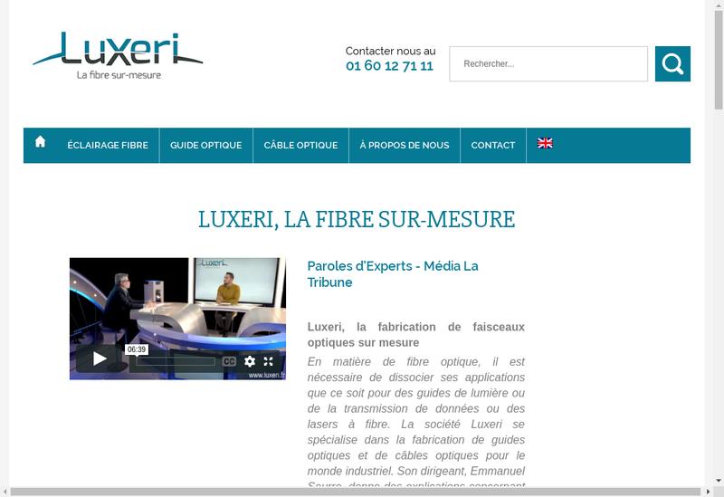 Capture d'écran du site de Luxeum
