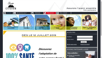 Site internet de Luxior Assurances