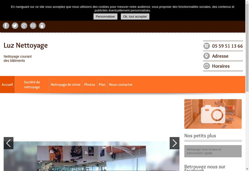 Capture d'écran du site de Luz Nettoyage Automobile Luz