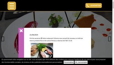 Site internet de L'Xtreme Bar