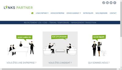 Site internet de Lynks Partner