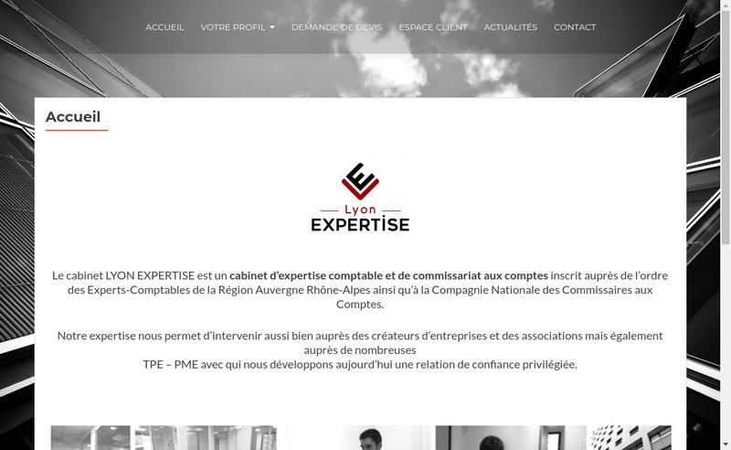 Capture d'écran du site de Lyon Expertise Comptable