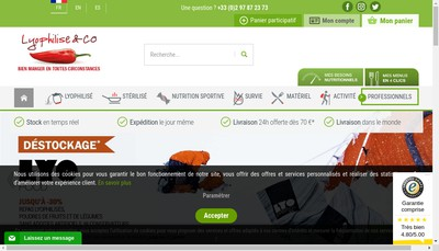 Site internet de Lyophilise Fr