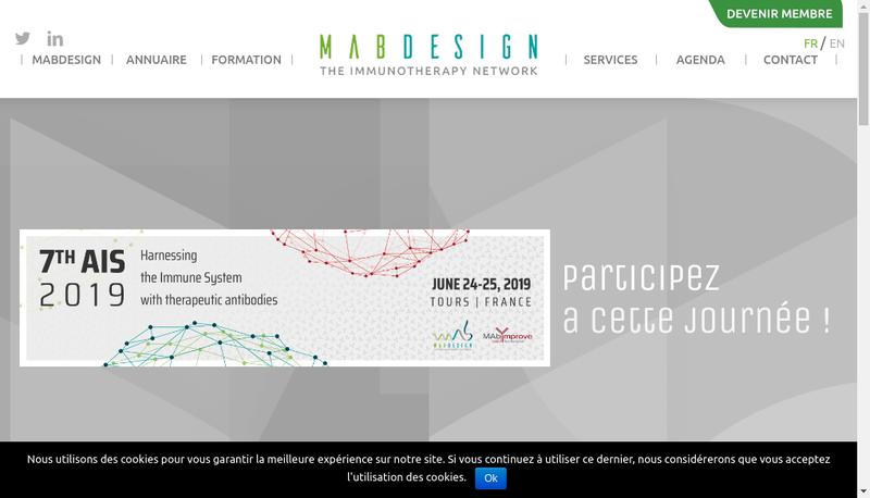 Capture d'écran du site de Mabdesign
