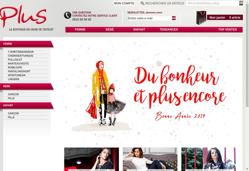 Capture d'écran du site de Textilot