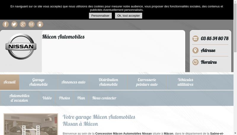 Capture d'écran du site de Auto 9