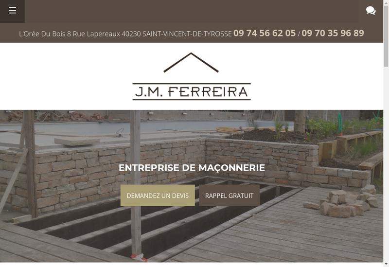 Capture d'écran du site de Jose Oliviera Ferreira