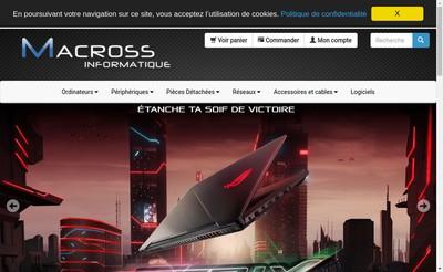 Site internet de Macross Informatique