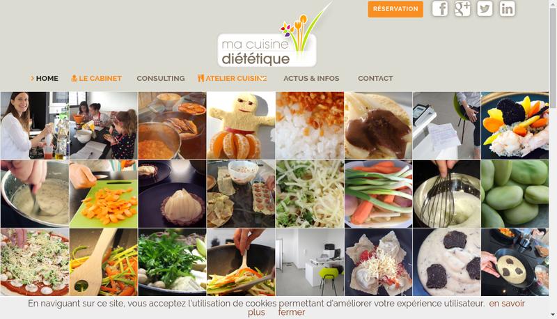 Capture d'écran du site de Melanie Mereu