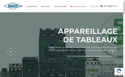 Site internet de Madep