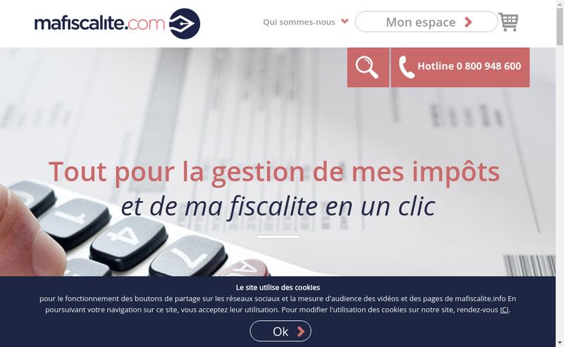 Capture d'écran du site de MaFiscalite