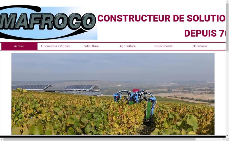 Capture d'écran du site de Mafroco