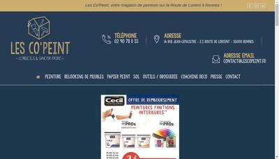Site internet de Les Co'Peint