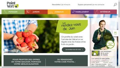 Site internet de Magasin Vert
