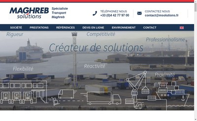 Site internet de Maghreb Solutions
