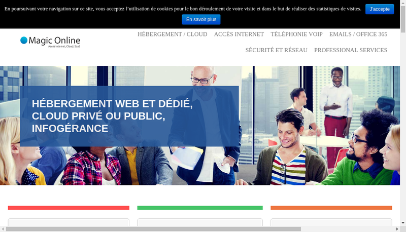 Capture d'écran du site de Magic On Line