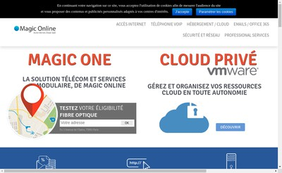 Site internet de Magic On Line