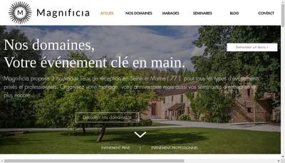 Site internet de Magnificia