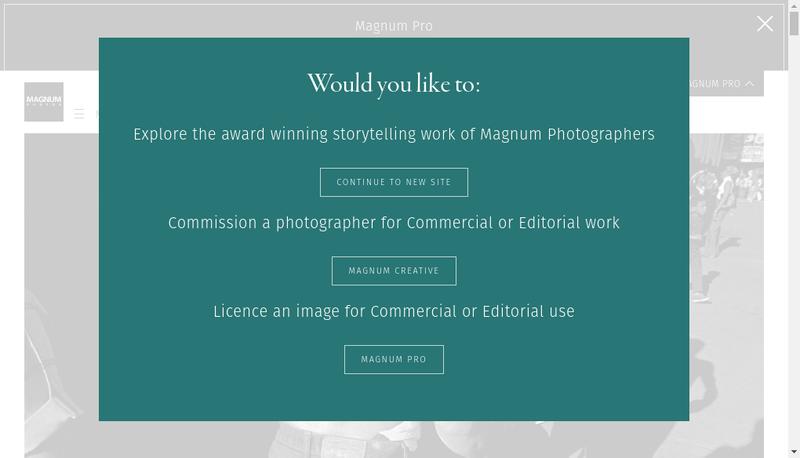 Capture d'écran du site de Magnum Photos