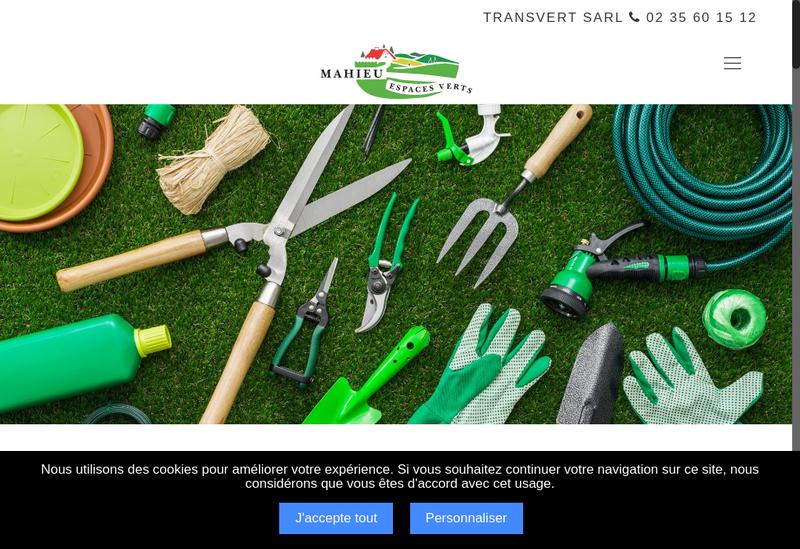 Capture d'écran du site de SARL Transvert