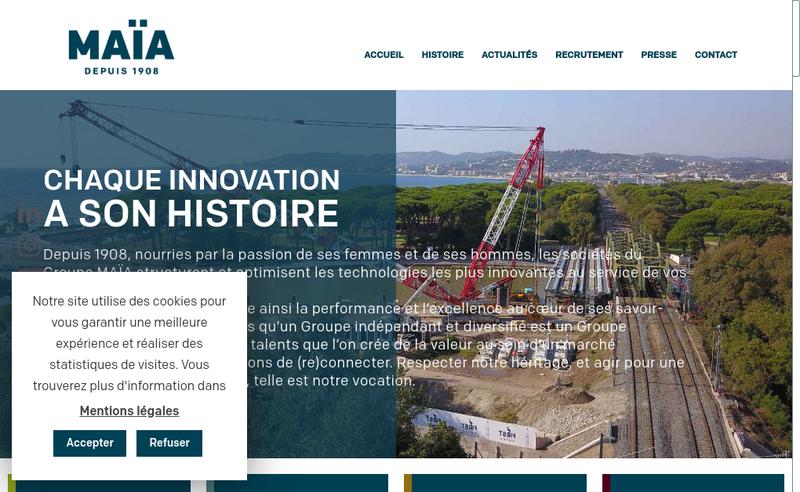 Capture d'écran du site de Maia Sonnier