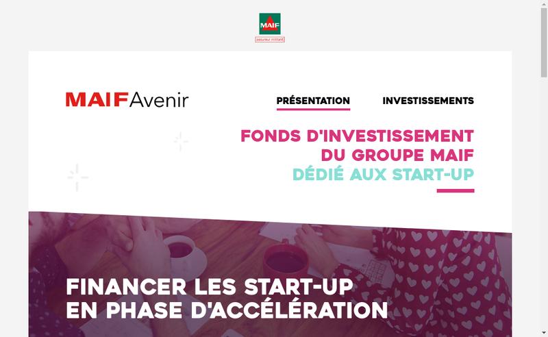 Capture d'écran du site de Maif Avenir
