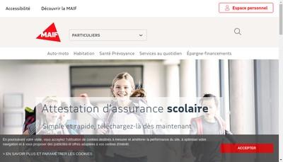 Site internet de Mutuelle Assurance Instituteur France