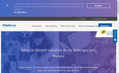 Site internet de Maileva