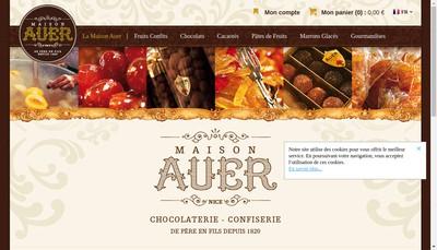 Site internet de Patisserie Confiserie Auer