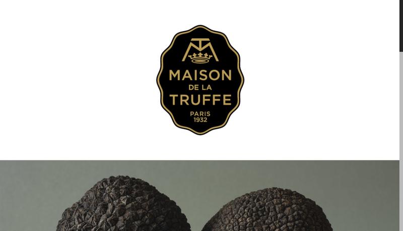 Capture d'écran du site de La Truffe