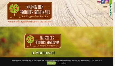 Site internet de Les Vergers de la Passion Maison des Produits Regionaux