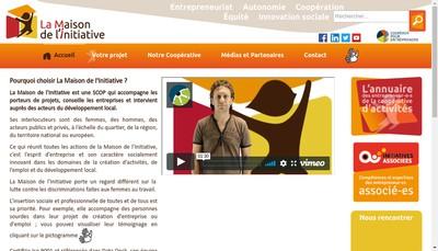 Site internet de La Maison de l'Initiative