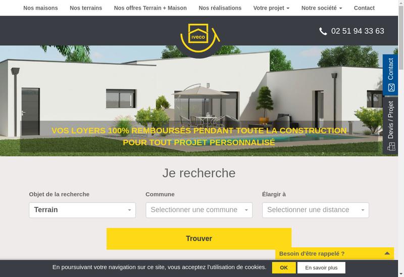 Capture d'écran du site de Immobiliere Vendenne de Construction