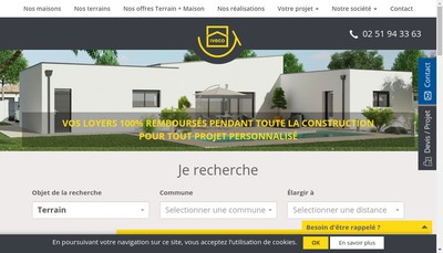 Site internet de Immobiliere Vendenne de Construction