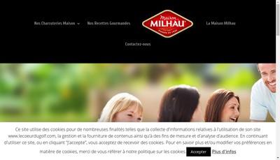 Site internet de Maison Milhau