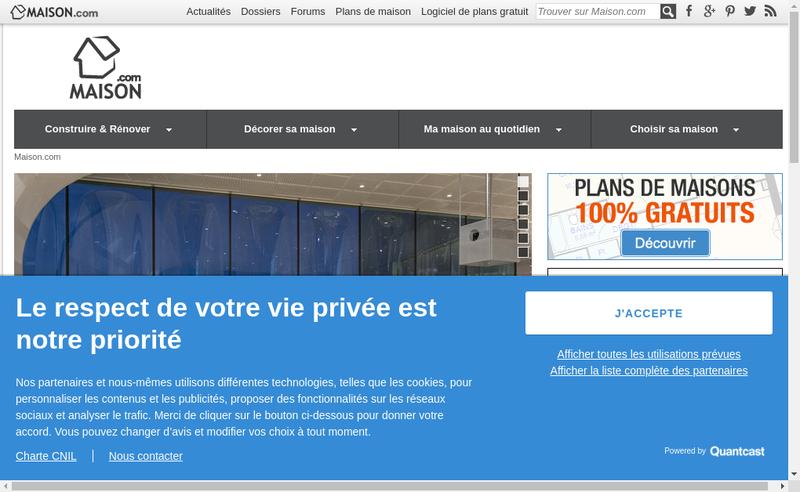 Capture d'écran du site de Maison SARL