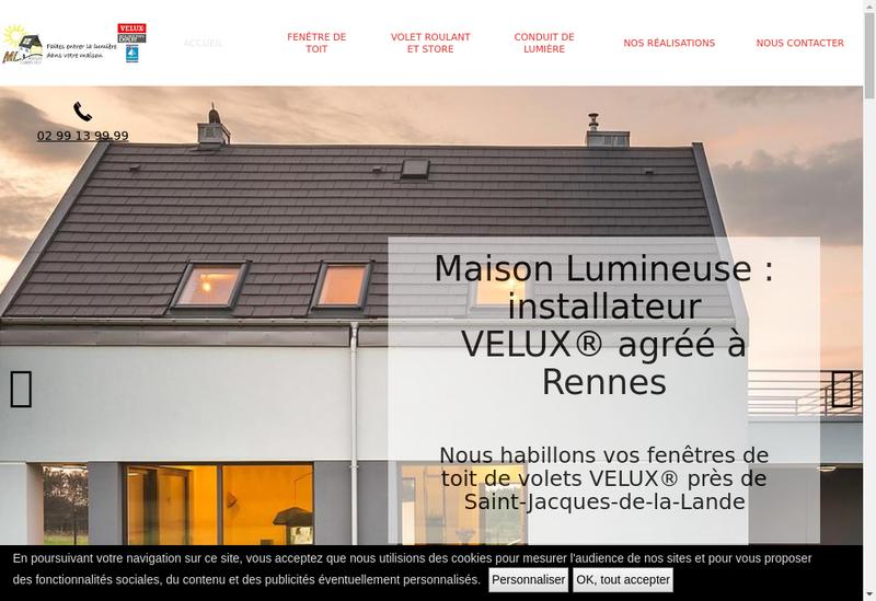 Capture d'écran du site de ML