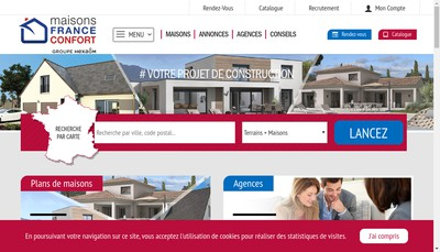 Site internet de Hexaom - Maisons France Confort - Mfc - Renovert - Maisons Open - Open