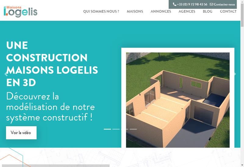 Capture d'écran du site de Maisons Logelis