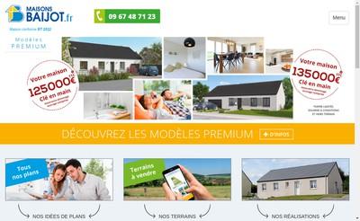 Site internet de Maisons Baijot France
