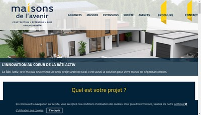 Site internet de Maisons de l'Avenir