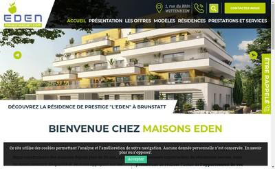 Site internet de Maisons Eden