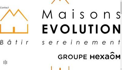Site internet de Maisons Evolution