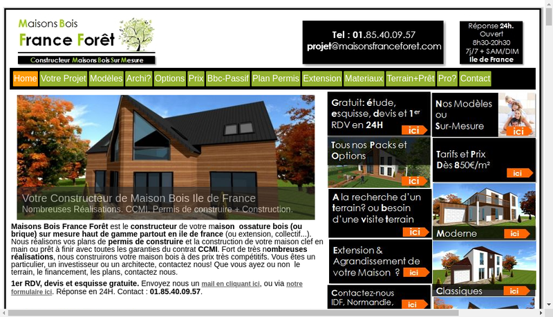 Capture d'écran du site de Architectas - France Foret- Qualitis- Crechea