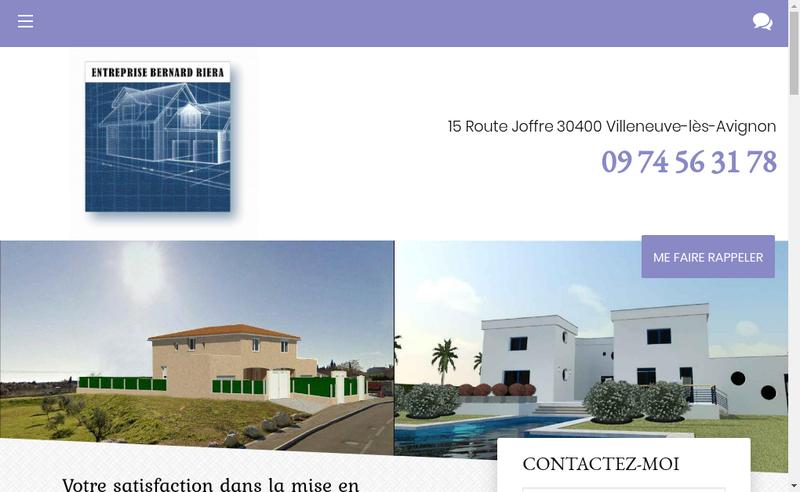 Capture d'écran du site de Bernard Riera
